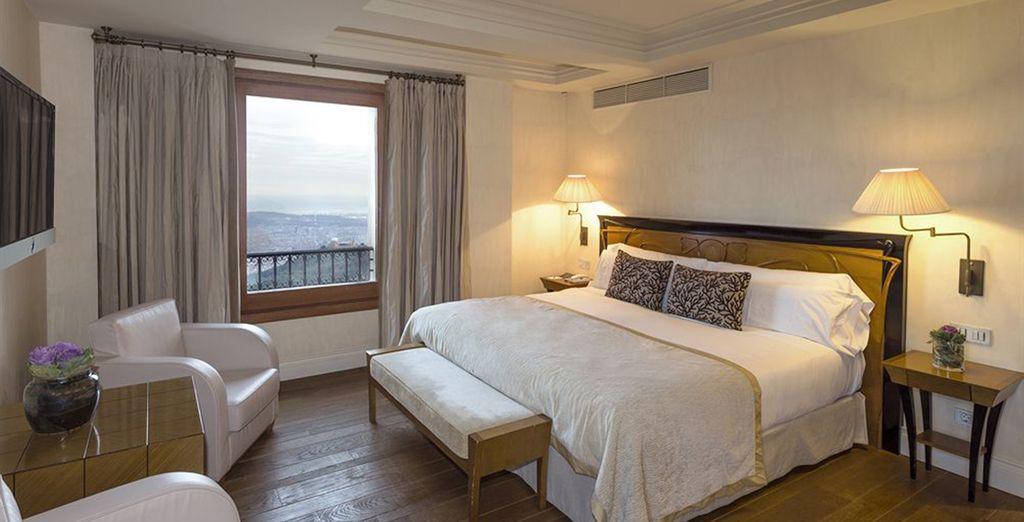 Vous séjournerez dans une superbe chambre Deluxe