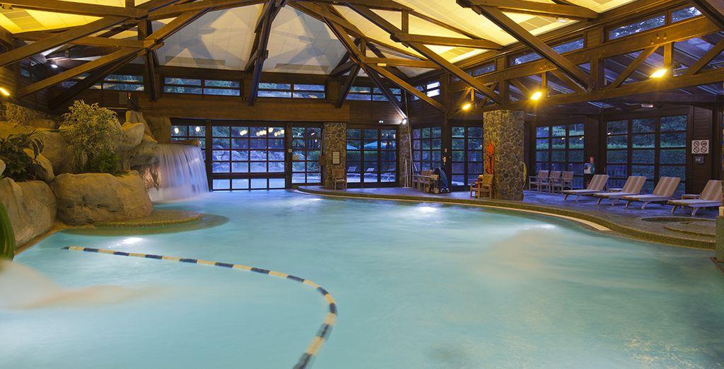 Vous pourrez vous relaxer le soir venu dans la piscine