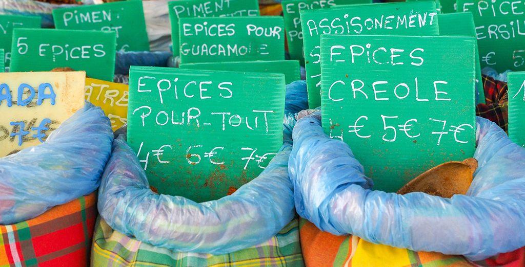 Découvrez la Guadeloupe, le marché de St Anne...