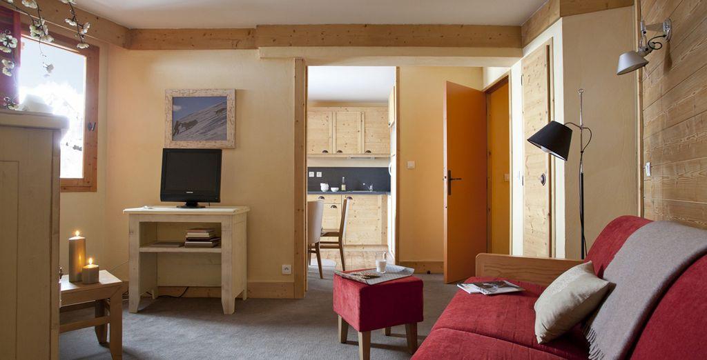 Vous poserez vos valises dans un appartement soigné et tout confort
