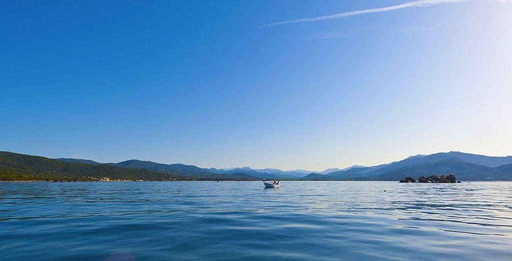 Pour admirez la vue sur la plage ou le golfe de Valinco