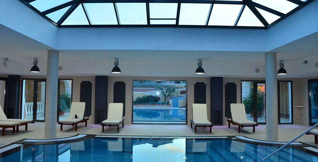 Entre les différentes piscines de l'hôtel