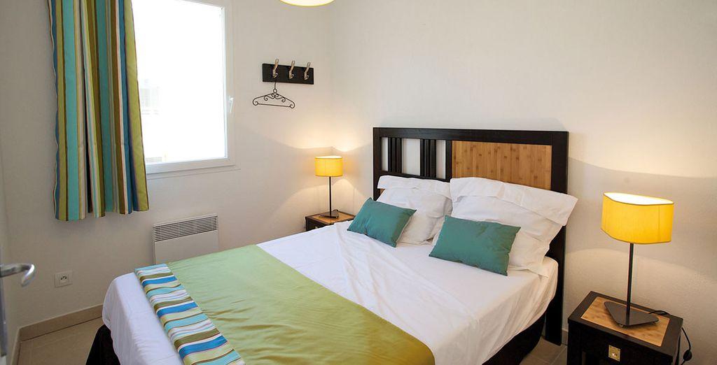 De belles chambres accueillantes...