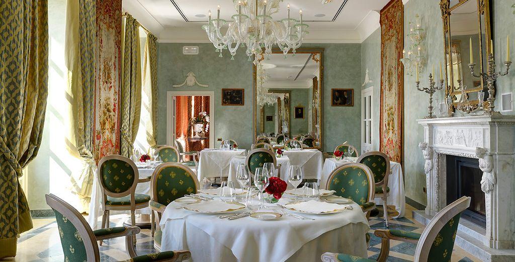 Et rejoignez le restaurant pour vous délecter de la cuisine gastronomique du Chef...