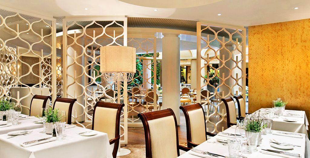 Ses deux restaurants vous réservent une cuisine gastronomique et créative