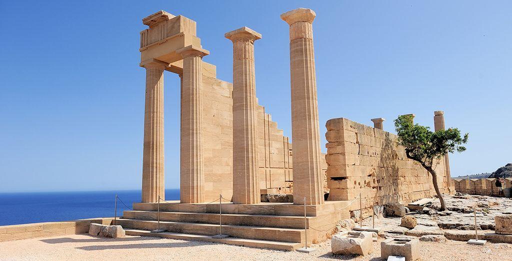 Entre les vestiges d'une civilisation incroyable...