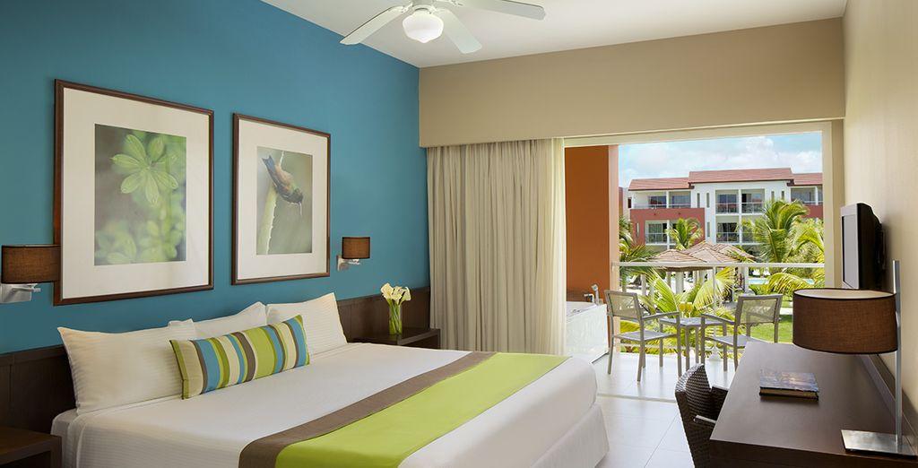 Lovez-vous dans le confort de votre chambre Deluxe Garden View
