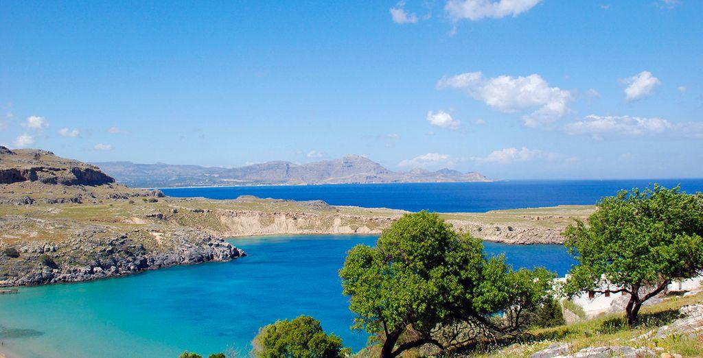 Sur l'île nature et sauvage de Rhodes