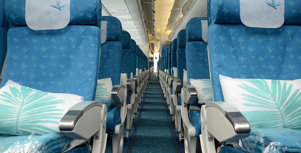 Pour profiter d'un vol direct tout confort depuis Paris vers l'Ile Maurice