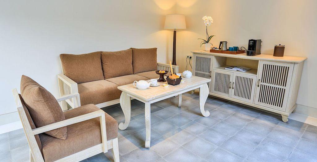 Un petit salon attenant cosy pour vous détendre
