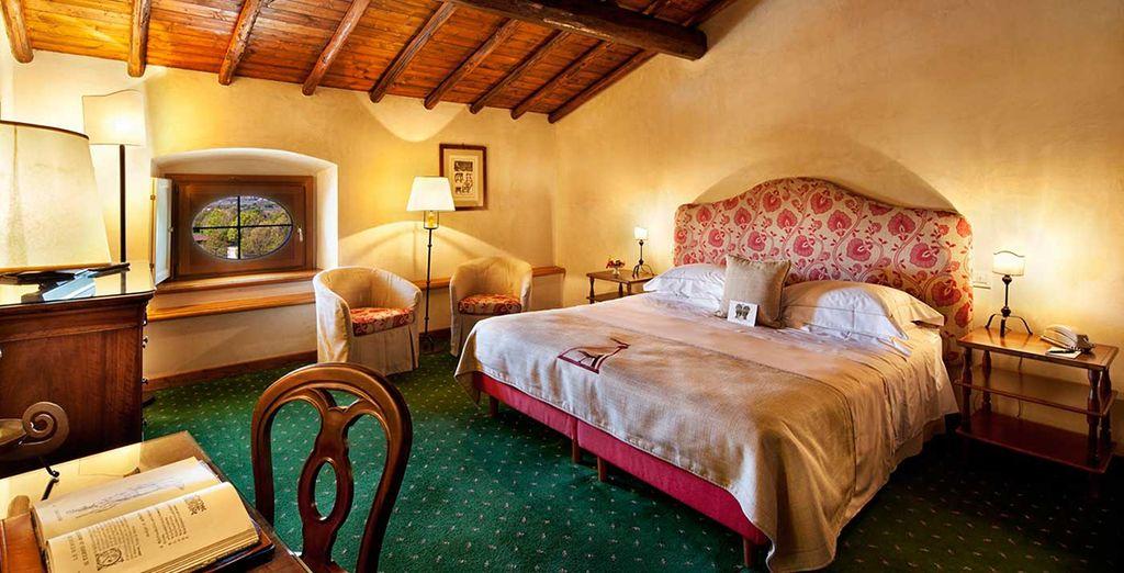 Installez-vous dans votre cocon romantique, votre chambre Classic Palazzo