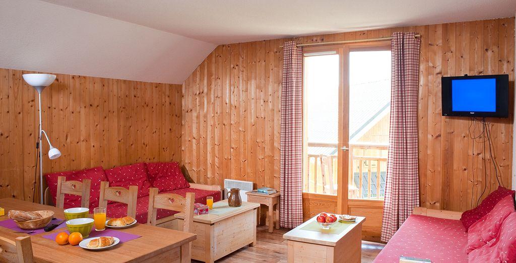 Installez-vous en appartement cosy - Les Chalets du Berger La Feclaz