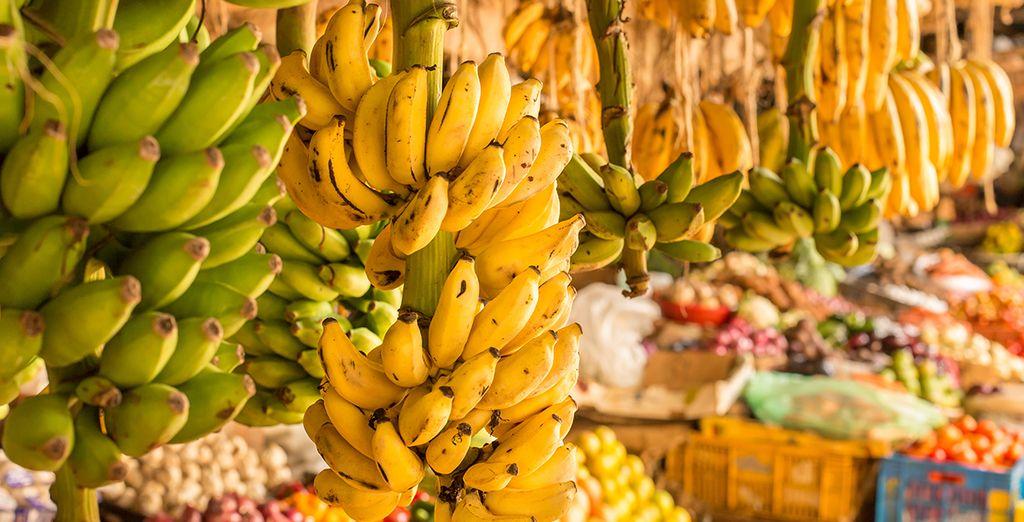 Fruits et marché au Kenya
