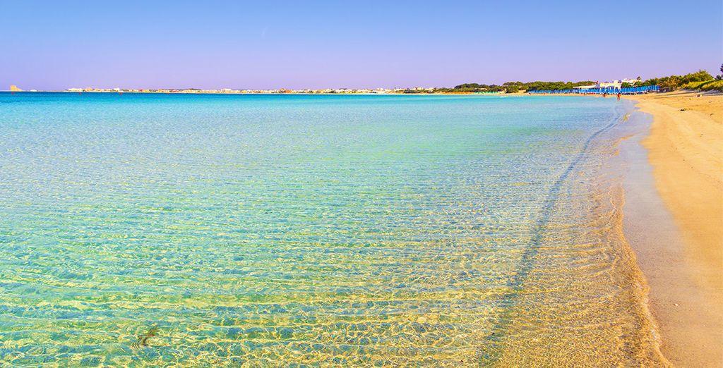Foulez la plage de Porto Cesareo