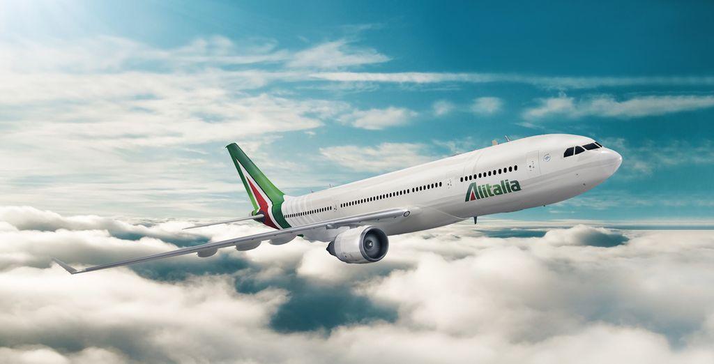 Choisissez le confort d'un vol direct avec Alitalia