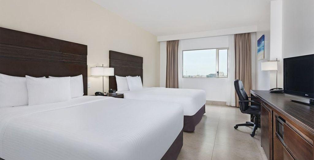Des chambres confortables vous attendront pour vous remettre de vos journées de découverte