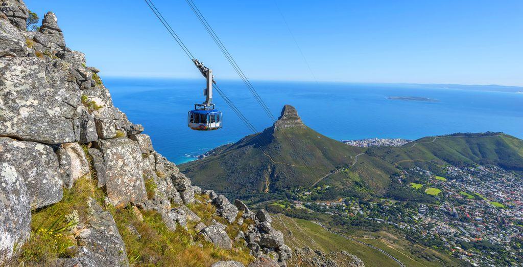 Direction l'Afrique du Sud à Cape Town