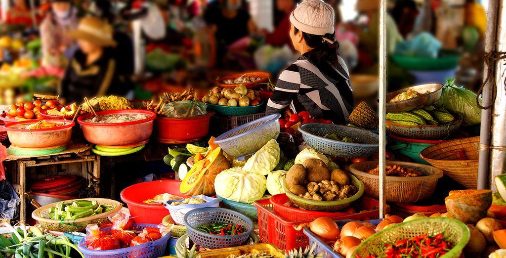 Durant ce voyage, vous aurez l'occasion de découvrir les marchés terrestres...
