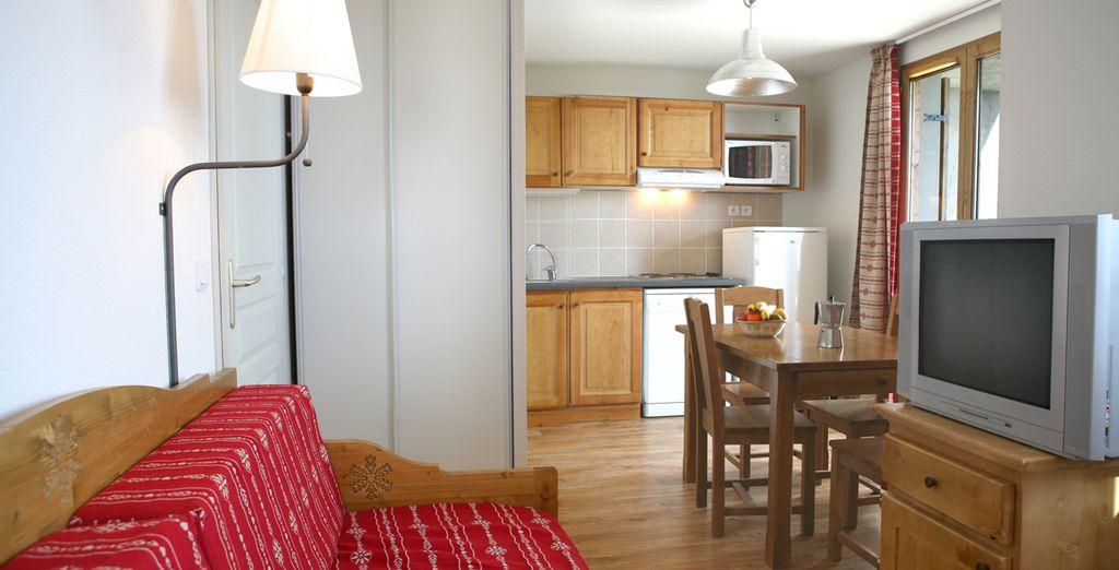 Des appartements pouvant accueillir jusqu'à 10 personnes...