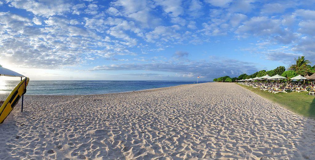 Entre détente balnéaire sur la plage