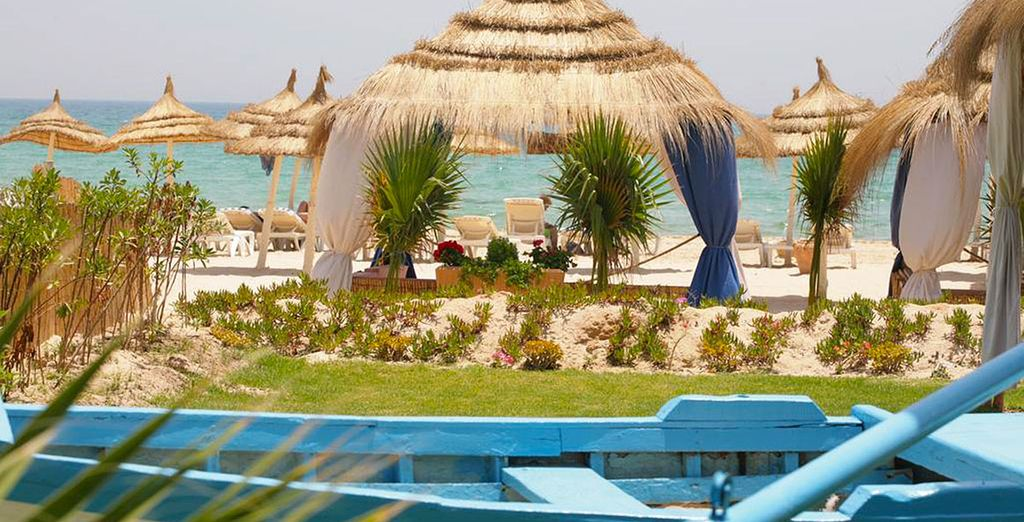 Une plage privée de sable