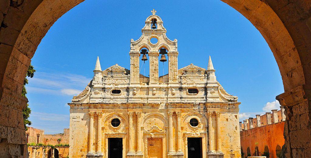 Photographie du monastère d'Arkadi en Grèce au coeur de la Crète