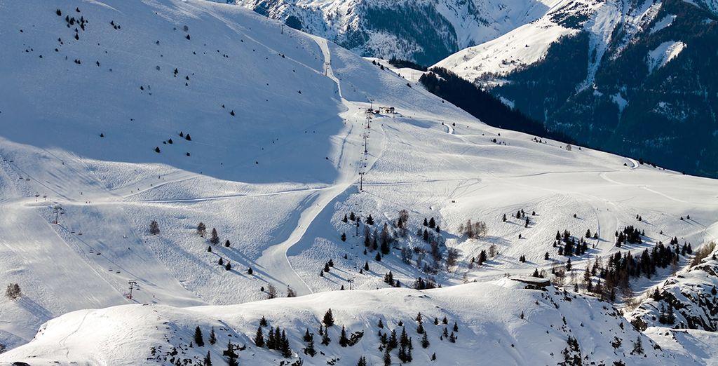 Dans l'un des plus grands domaines skiables du monde !