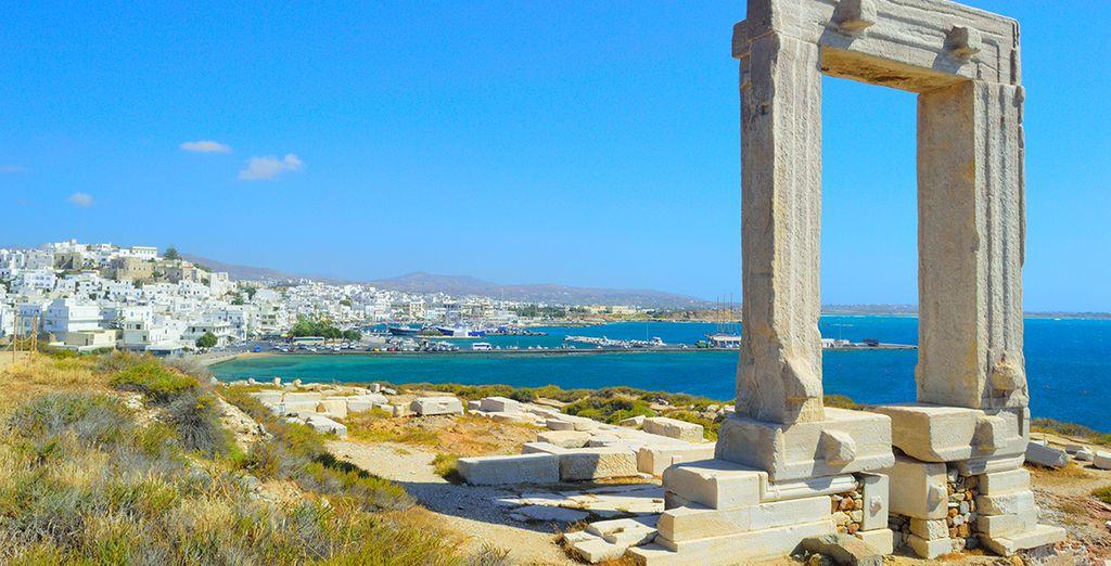 Photographie de la ville de Naxaus en Grèce