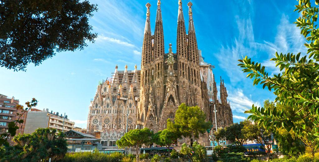Mais aussi en visitant la Sagrada Familia