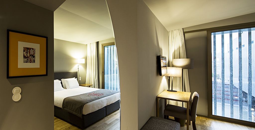 Vous séjournerez en chambre Prestige raffinée et confortable