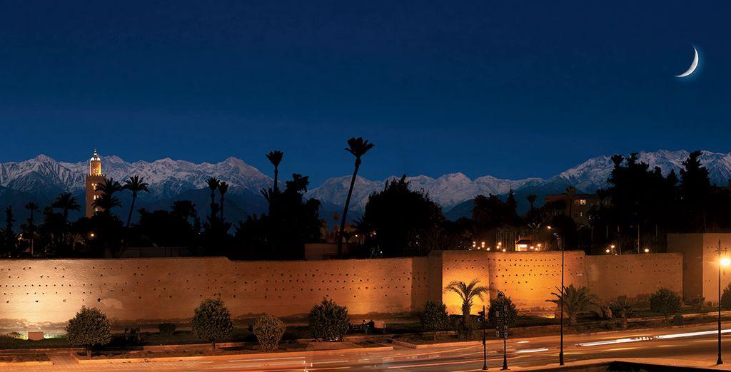 Et d'admirer la nuit tomber sur la Medina...