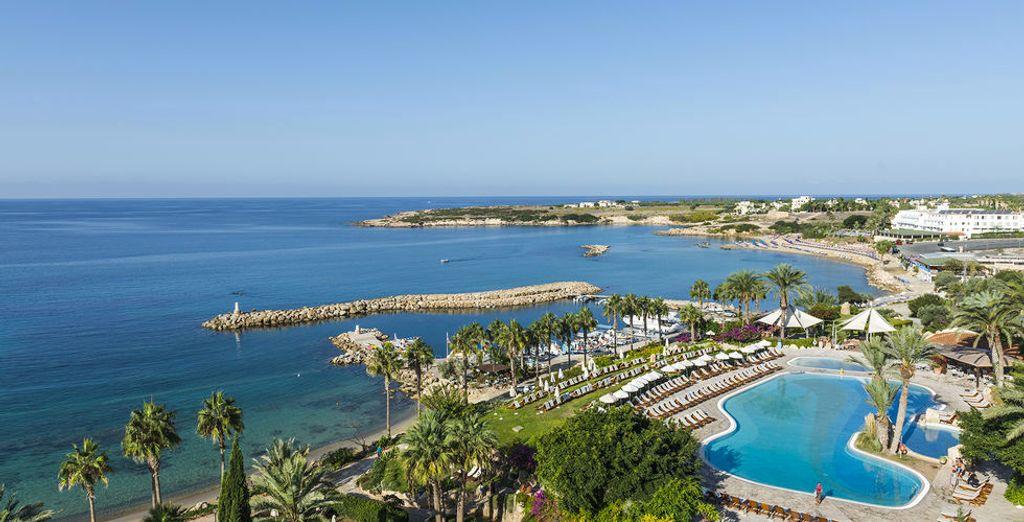 Pieds dans le sable et regard dans le bleu... Bienvenue dans votre Hôtel Coral Beach 5*