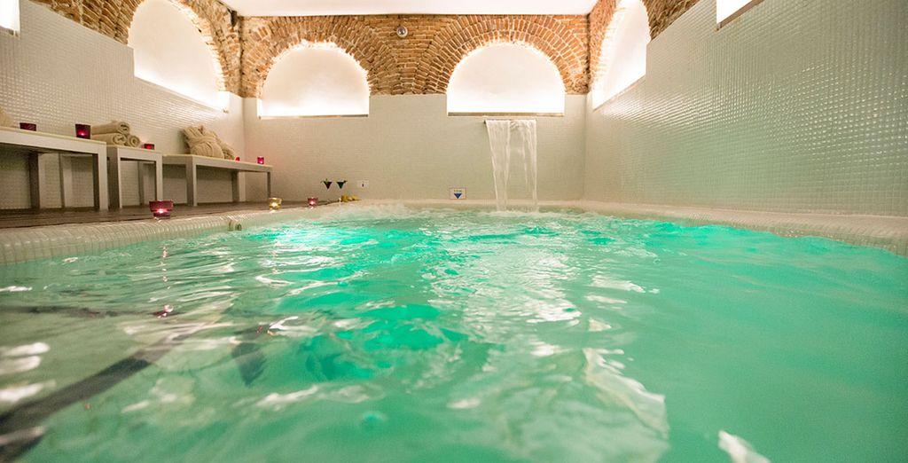 Et de la piscine intérieure...