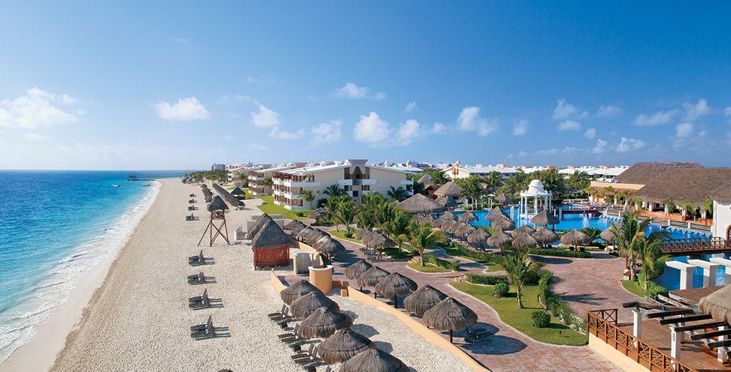 Rendez-vous face aux eaux azurées de Cancun...