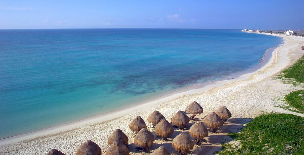 Installez-vous au bord d'une plage privée...