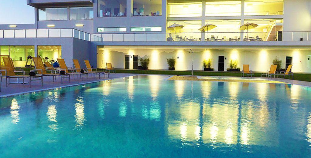 Puis direction la piscine extérieure