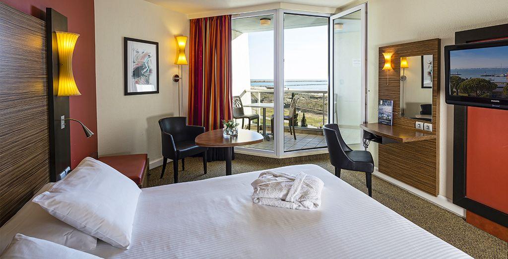 Posez vos valises en chambre avec vue sur la mer