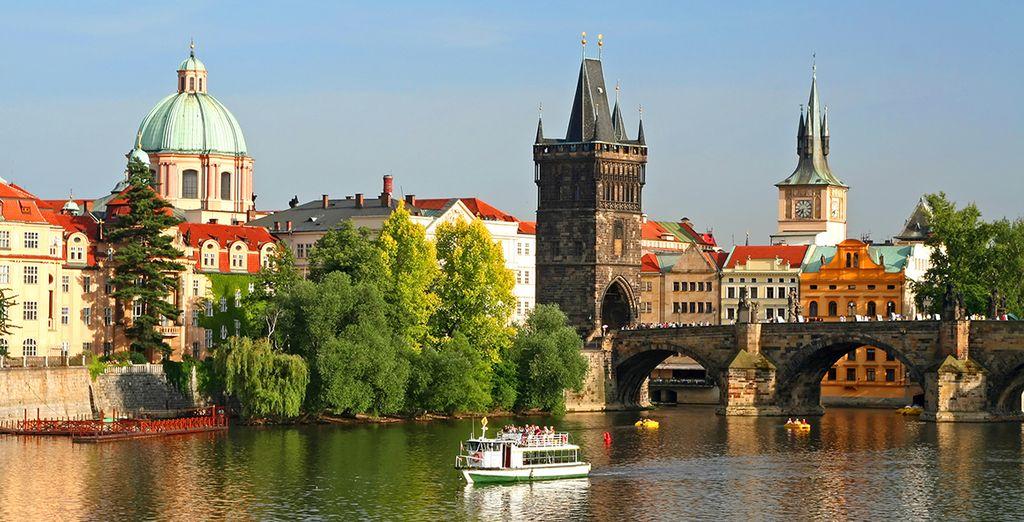 Photographie de la ville de Prague et ses monuments historiques