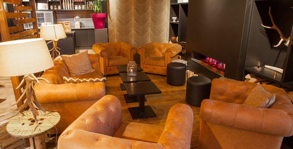 Vous apprécierez la décoration cosy, chaleureuse et industrielle