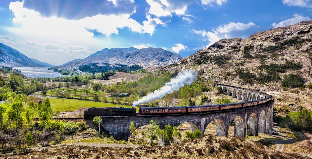 Ne loupez pas le passage du Jacobite n° 5972, le train d'Harry Potter !