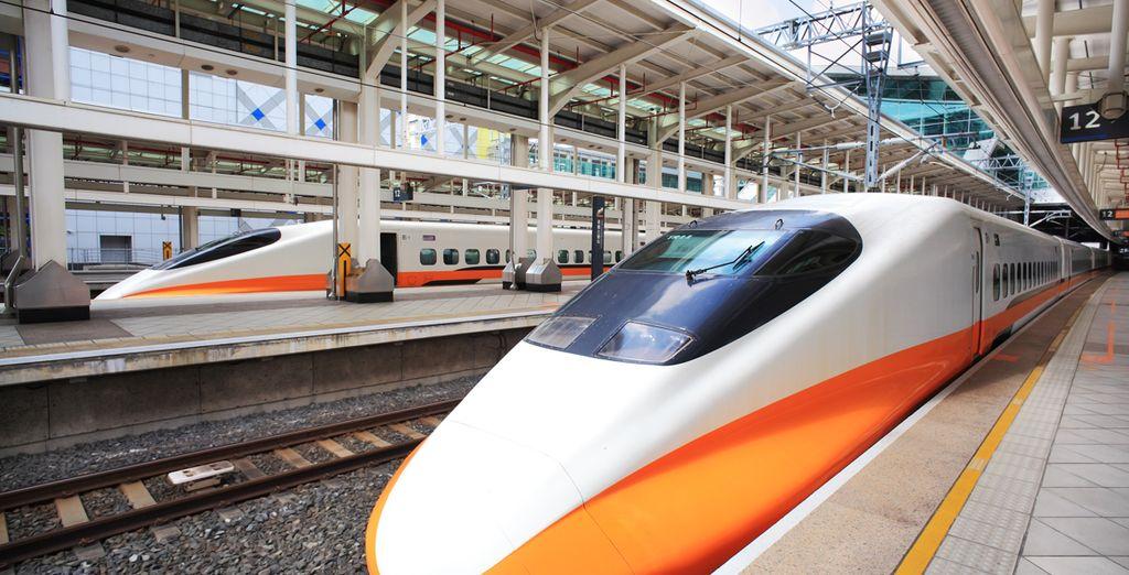 Puis en shinkansen de ville en ville grâce au Japan Pass Rail réservé