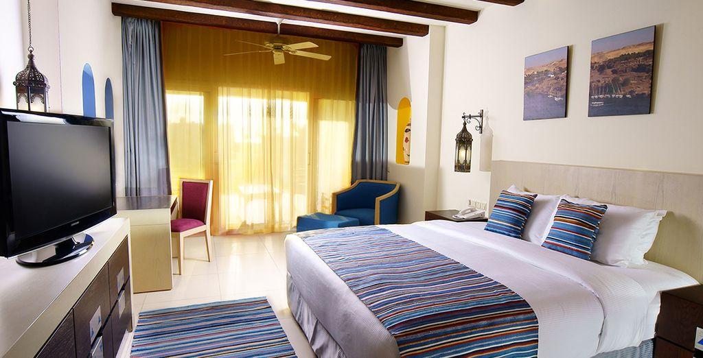 Séjournez dans des chambres spacieuses et confortables telles la chambre Standard