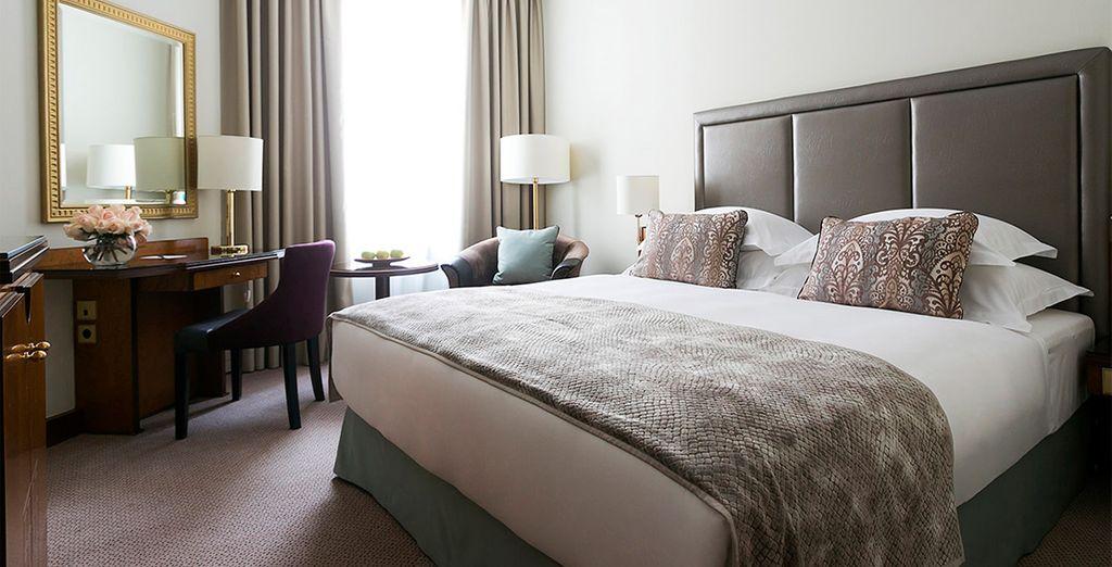 Ou optez pour la chambre Deluxe, pour des nuits douces et paisibles