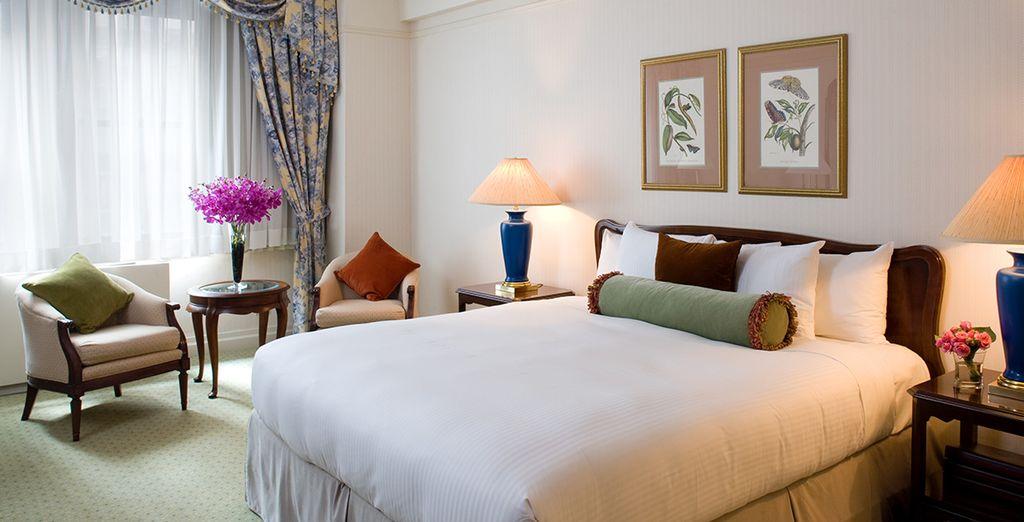 Découvrez votre chambre, offrant calme et détente