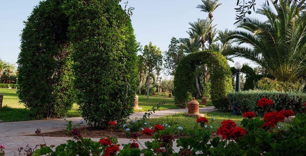 Déambulez dans les jardins