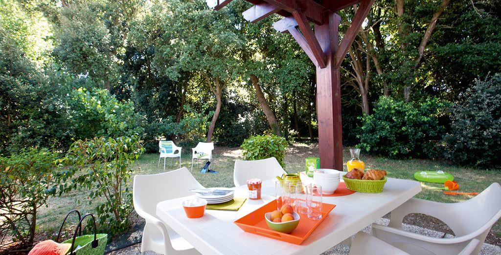 Club vacances à proximité de Nantes avec terrasse privative
