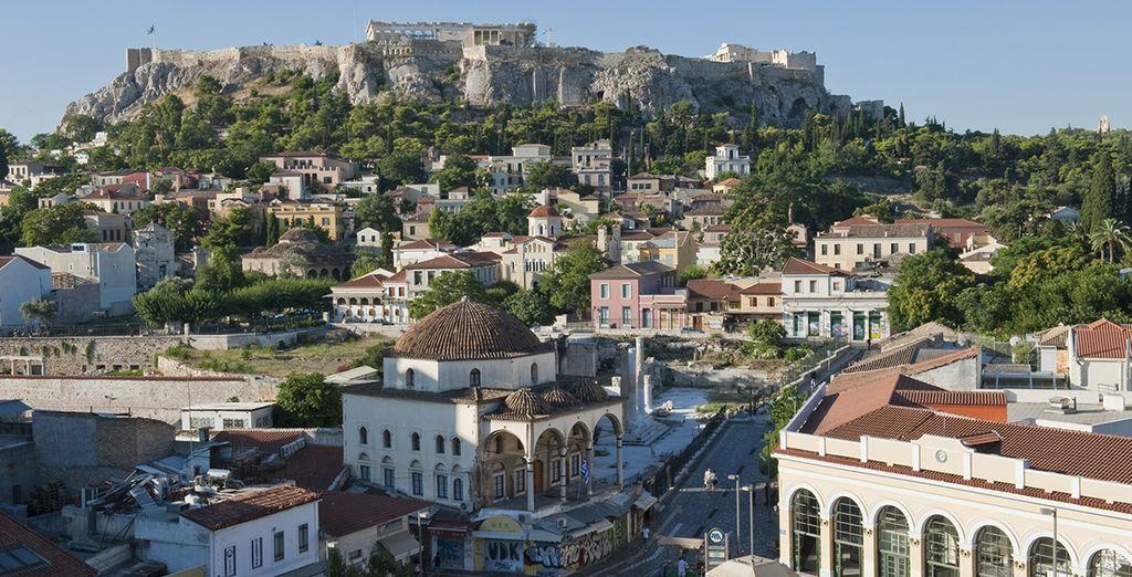 Panorama d'Athène en Grèce