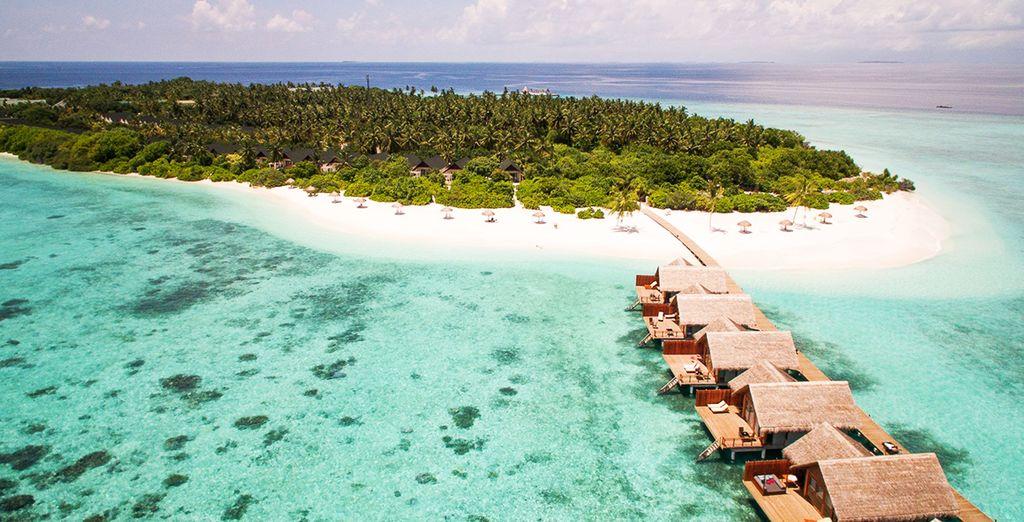 L'île paradisiaque de Mudhdhoo aux Maldives