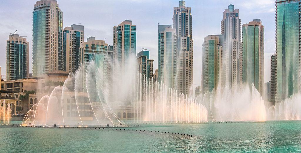 les fontaines dansantes de Dubai