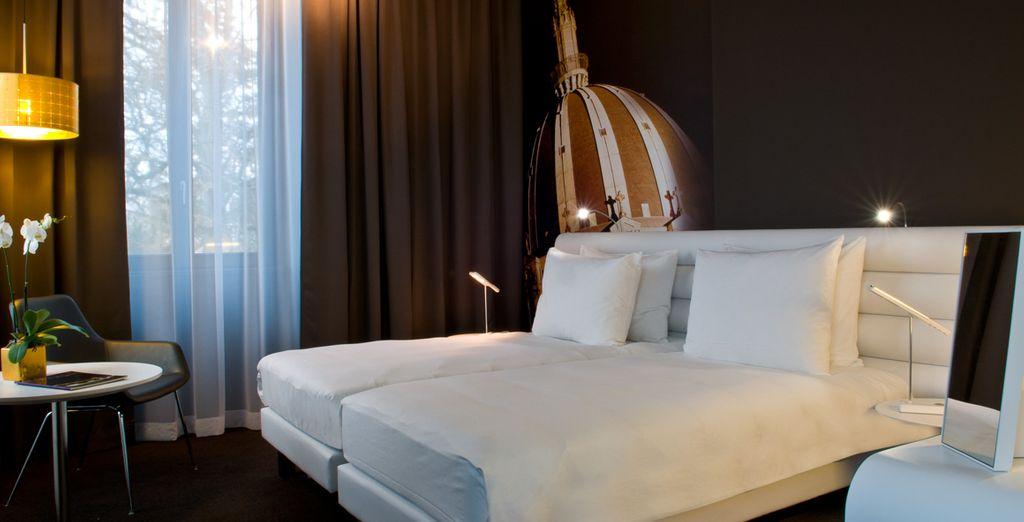 Hôtel 4 étoiles au cœur de Nantes, chambre double et lit tout confort
